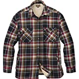 Gravel Gear Sherpa Lined Flannel Shirt Jacket - Black/Red, 2XL