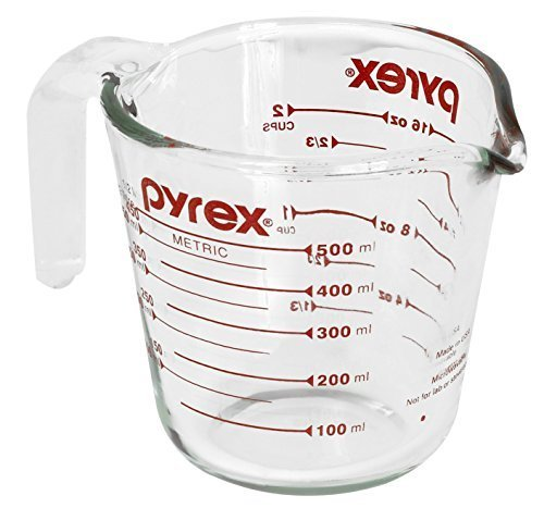Pyrex Glass Measuring Cup 2 Cup ( 16 Oz ) Glass Red by Pyrex -  World Kitchen (Corning Revere)