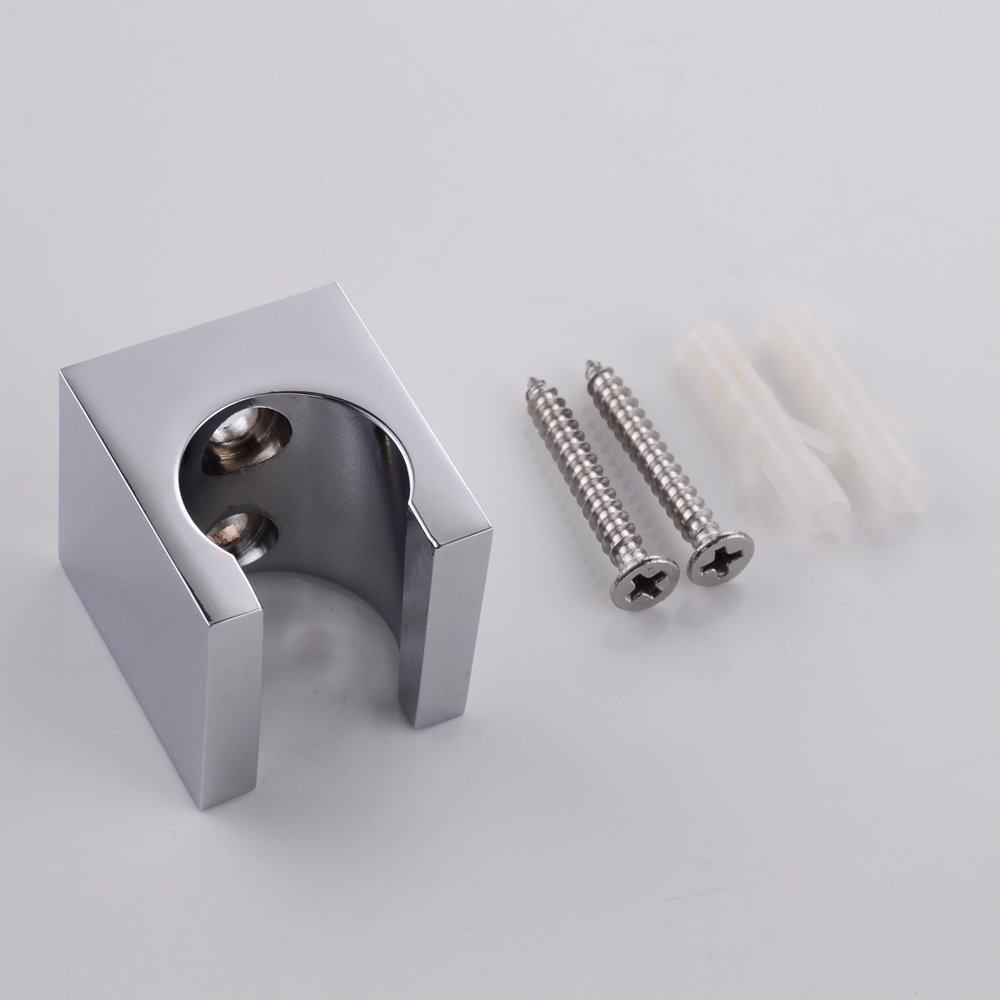 KES All Brass Handheld Shower Head Holder Bracket Wall Mount For Bathroom  Hand Sprayer Wand Or Toilet Hand Held Bidet Spray Chrome, C107      Amazon.com