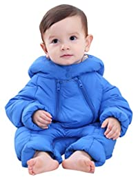 Winter Baby Girl's One-Piece Hood Down Cotton Snowsuit Jumpsuit