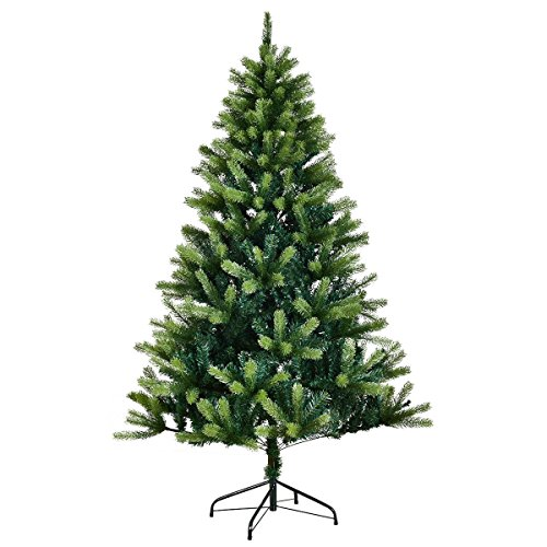 Amaethon 7FT Tree 7 Ft Artificial Christmas 1010 Tips Metal Legs Green Solid Full Stand Holiday Gift by Amaethon (Image #4)