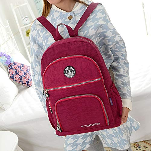 Amazon.com: 2015 Women Backpack Waterproof Nylon 10 Colors Lady Womens Backpacks Female Casual Travel Bag: Kitchen & Dining