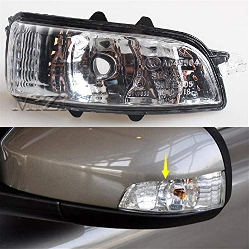- Clidr Left/Right Rearview Mirror Lights for Volvo New S80 S80L S40 S60 C70 C30 Mirror Turn Signal Light Rearview Mirror Light No Bulb (Right)