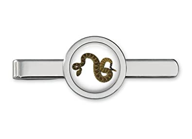 15070b957410 Image Unavailable. Image not available for. Color: Oakmont Cufflinks  Rattlesnake Tie Clip Snake Tie Bar