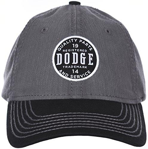 (H3 Headwear Dodge Quality Parts & Service 1914 Logo Gray & Black Adjustable Cap)