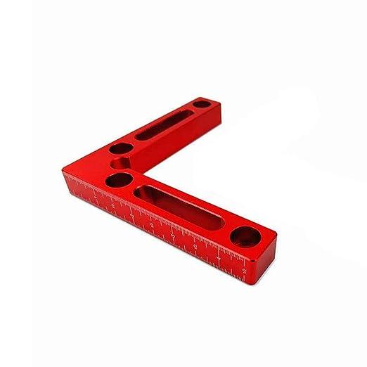 herramienta de carpinter/ía de soldadura en /ángulo recto de 90 /° para metal de madera Aleaci/ón de aluminio en forma de abrazadera de esquina Escuadra de posicionamiento