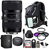 Sigma 18-35mm F1.8 Art DC HSM Lens for NIKON DSLR Cameras w/Sigma USB Dock + 32GB SD CARD & Advanced Photo & Travel Bundle, Promotional Dads & Grads Kit