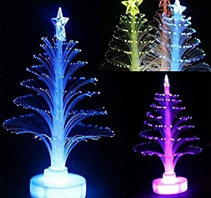 drhob 1piece colorful led fiber optic nightlight christmas decoration light lamp xmas gift