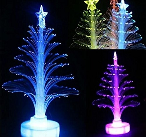 Colorful LED Fiber Optic Nightlight Christmas Decoration Light Lamp Xmas Gift