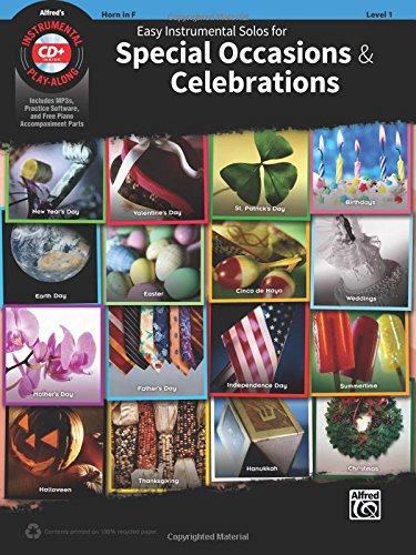 Read Online Easy Instrumental Solos For Special Occasions & Celebrations: Horn in F, Book & CD (Easy Instrumental Solos Series) pdf