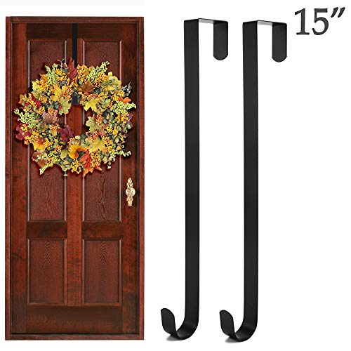Wish Wreath Hanger Over The Door Hook for Clothing, Towels, Wreaths, Bags Organization and Parties Decoration - 15