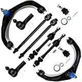 SCITOO 10pcs Suspension Kit 2 Upper Left Control Arm 2 Lower Ball Joint 2 Front Sway Bar End Link 2 Inner 2 Outer Tie Rod End fit 2006-2008 Dodge Ram 1500 2WD K7411