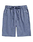 TINFL Youth Boys Plaid Cotton Sleep Lounge Shorts Pajama Pants YSP-SB013-Blue M