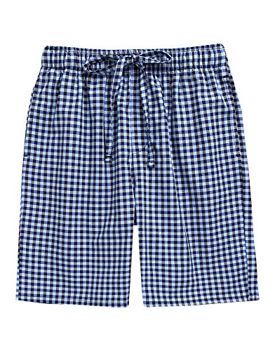 TINFL Youth Boys Plaid Cotton Sleep Lounge Shorts Pajama Pants YSP-SB013-Blue M by TINFL