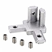 PZRT 4-Pack 2020 Series 3-Way End Corner Bracket Connector, with Screws for Standard 6mm T Slot Aluminum Extrusion Profile from PZRT