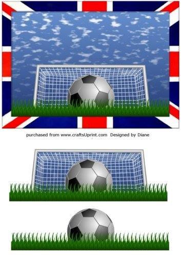 Bandera Inglés por Diane Hannah de balón de fútbol: Amazon.es: Hogar