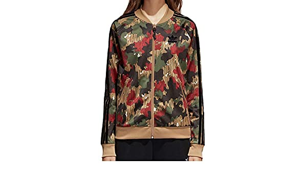 8190257c9d658 Amazon.com  adidas Originals Pharrell Superstar Women s Track Top Swiss  Camo cy7522 (Size XS)  Clothing