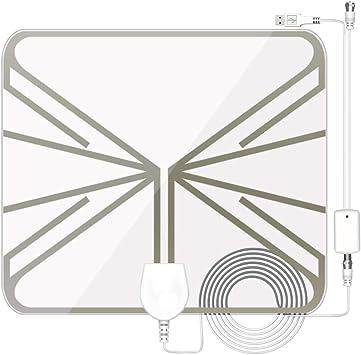 Antena de TV Pupgang amplificada para interiores, antena HDTV digital de rango de 100 millas, amplificador
