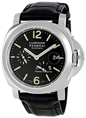 Panerai Men's PAM00090 Luminor Power Reserve Black Dial Watch