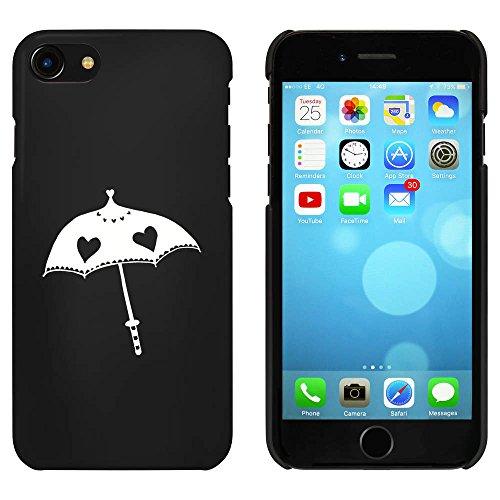 Noir 'Parapluie de Coeur' étui / housse pour iPhone 7 (MC00065149)