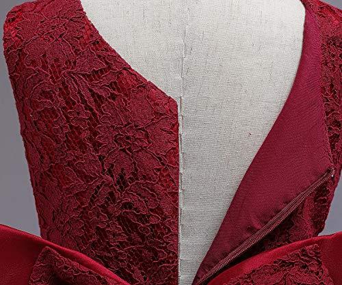 TTYAOVO Vestiti da Tutu del Partito Backless Eleganti delle Paillettes di Bowknot dei Paillettes Ricamati delle Neonate 4