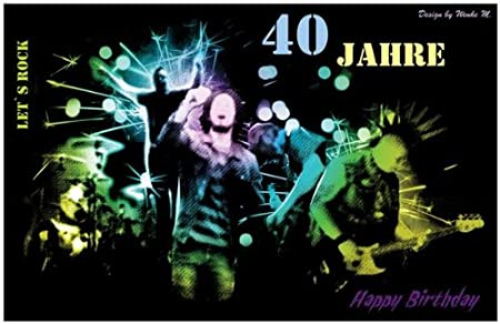 40 Jahre 40 Geburtstag Happy Birthday Maxikarte Sprüchekarte