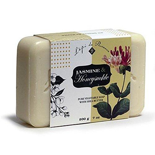 L Epi Provence - Epi de Provence Jasmine Honeysuckle Pure Vegetable Shea Butter Soap, 200 Gram