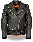 Milwaukee Women's Full Length Motorcycle Jacket with Side Lace (Black, X-Large)