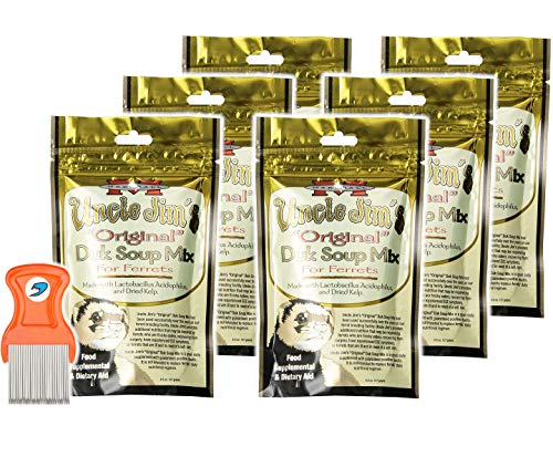 Pack of 6 - Uncle Jim's Original DUK Soup Mix by Marshall - Ferret Food Supplement and Dietary Aid - RandStar Mini Comb