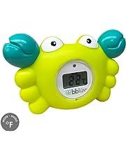 bblüv – Kräb - 3-in-1 Bath Thermometer & Bath Toy (Fahrenheit Mode)