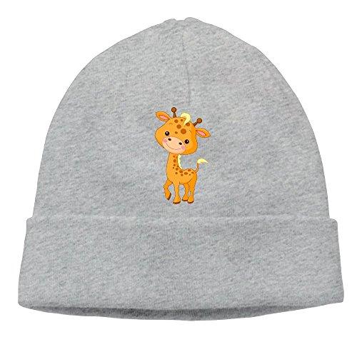 Location De Costume D'animal (Uanjuzn Cute Giraffe Men/Women Cool Fashion Hedging Hat Wool Beanies Cap Ash)