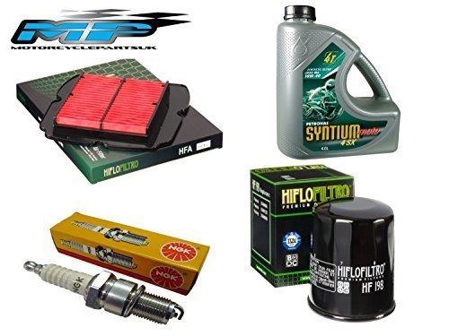 Kit de recambio para KTM DUKE 125 2011-17: FILTRO DE ACEITE, FILTRO DE AIRE, bují as y Aceite bujías y Aceite Hiflo
