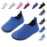 HooyFeel Kids Toddler Water Shoes Barefoot Aqua Socks Shoes for Beach Swim Quick Dry Non-Slip Water Skin for Boys Girls