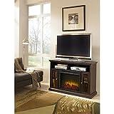 Pleasant Hearth 23-Inch Riley Espresso Media Electric Fireplace (Small Image)