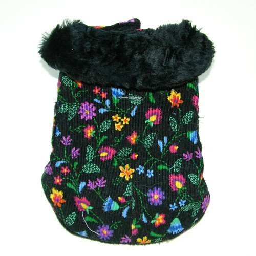 Ruff Ruff Couture 0700-3510-749-XS Fall Bouquet Print Vintage Glam Coat for Dog, X-Small ()