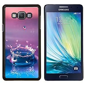 TECHCASE---Cubierta de la caja de protección para la piel dura ** Samsung Galaxy A7 ( A7000 ) ** --Agua Gota Gradiente púrpura