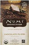 Numi Organic Tea Chocolate Pu-erh, Full Leaf Black Tea, 16 Count Tea Bags