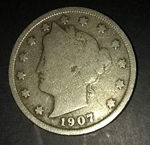 """1907 (Barber Head) U.S. Liberty""""V"""" (Victory) Nickel for sale  Delivered anywhere in USA"""