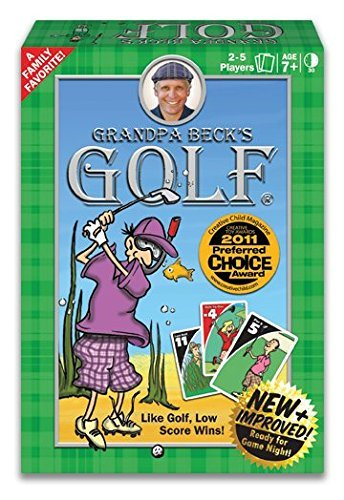 golf and card game - 2