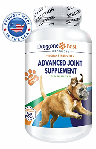 Glucosamine for Dogs - Chondroitin & MSM - Best Joint Supplement for Dogs - Omega 3 & 6 - Advanced Arthritis Pain Relief - Improve Mobility & Reduce Inflammation - Chewable - Made in USA