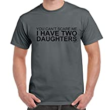 Starlite-I have 2 Daughters tshirt-Mens Funny Sayings Slogans Novelty T Shirts