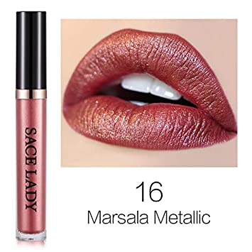 Amazoncom Metal Lipstick Waterproof Matte Makeup Liquid Lip Gloss