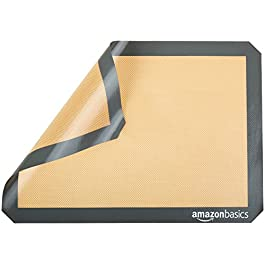 AmazonBasics Silicone, Non-Stick, Food Safe Baking Mat – Pack of 2