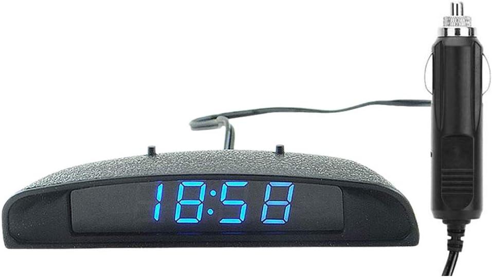 Polarlander 12v 3 In 1 Digital Led Auto Uhr Thermometer Voltmeter Spannung Temperatur Monitor Auto