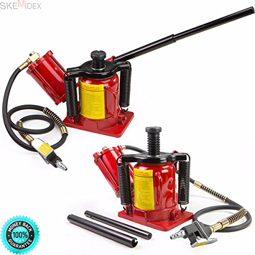SKEMIDEX---20 Ton Air Manual Pneumatic Hydraulic Low Profile Bottle Jack Lift auto Tool new And hydraulics and pneumatics pdf hydraulics and pneumatics symbols hydraulics and pneumatics book