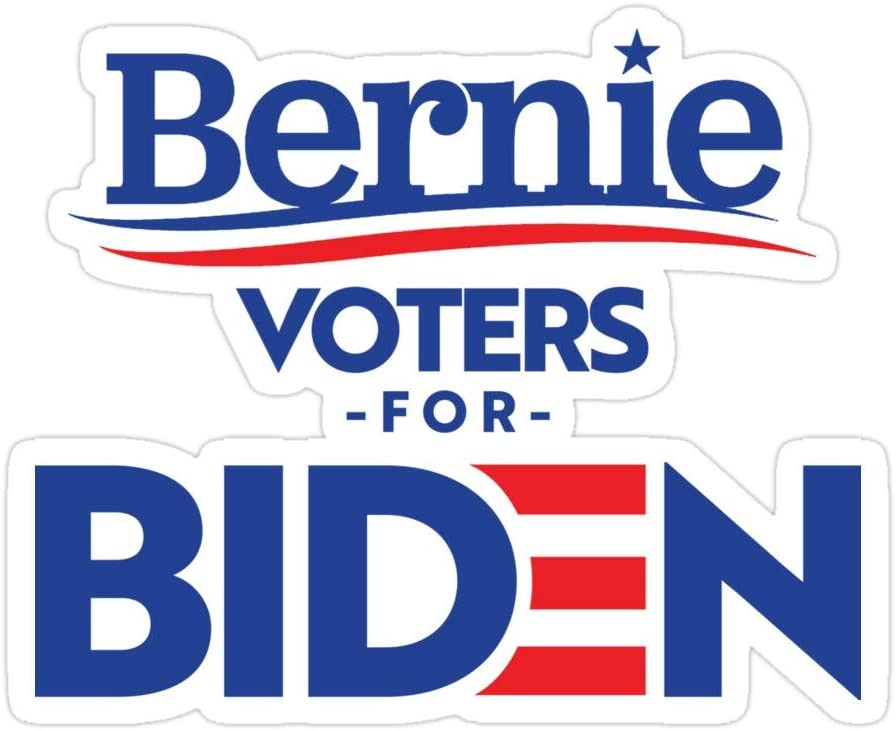 Printliza (3 PCs/Pack) Bernie Sanders Voters for Biden 3x4 Inch Die-Cut Stickers Decals for Laptop Window Car Bumper Helmet Water Bottle
