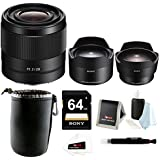 Sony FE 28mm f/2.0 E-mount Prime Lens and Ultra-wide + Fish-eye Converter Bundle