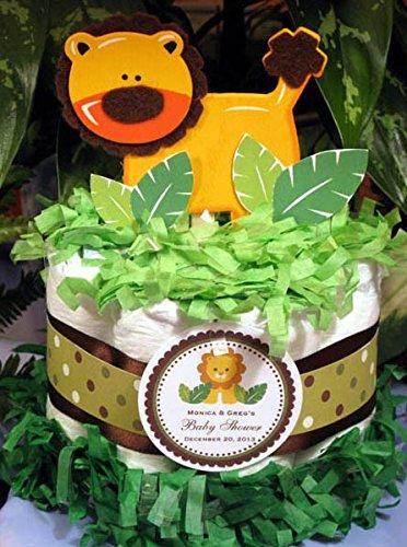 - Lion Jungle Safari Mini Diaper Cake Centerpiece