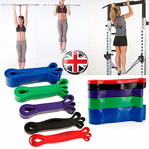 EDTara Fitness Yoga Loop Band Exercise Resistance Belt Latex