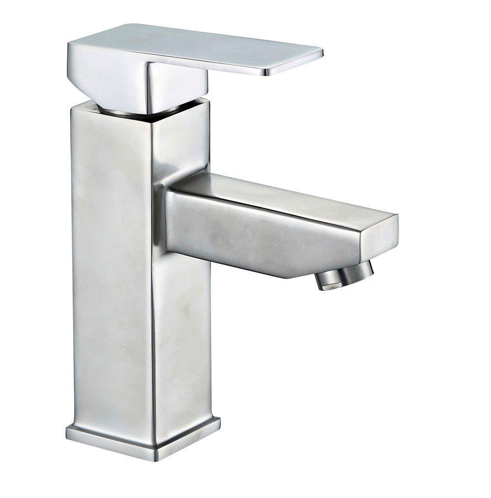ANNTYE Waschtischarmatur Bad Mischbatterie Badarmatur Waschbecken Platz 3 Edelstahl Warmes und kaltes Wasser Badezimmer Waschtischmischer